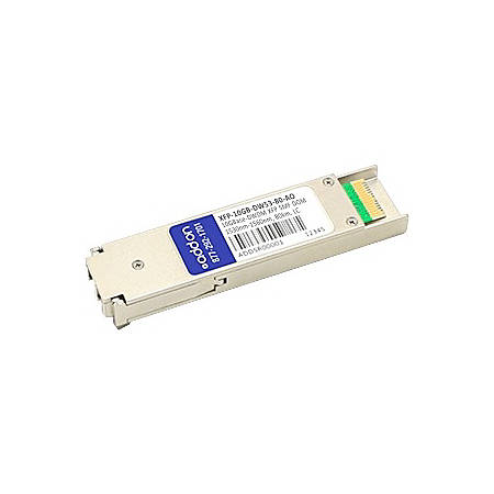 AddOn MSA and TAA Compliant 10GBase-DWDM 100GHz XFP Transceiver (SMF, 1535.04nm, 80km, LC, DOM)