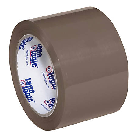 "Tape Logic® #600 Hot Melt Tape, 3"" Core, 3"" x 110 Yd., Tan, Case Of 24"