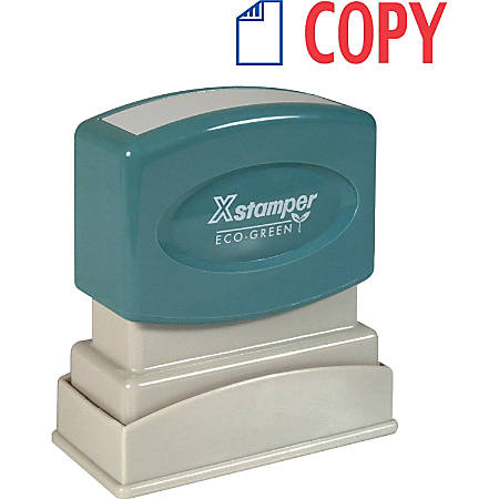 "Xstamper® Pre-Inked, Re-Inkable Two-Color Title Stamp, ""Copy"""