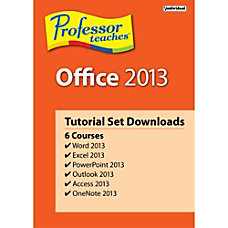 Professor Teaches Office 2013 Tutorial Set
