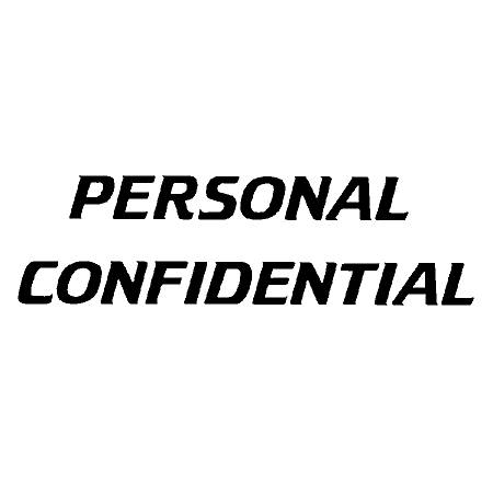 """Xstamper® Pre-Inked, Re-Inkable Two-Color Title Stamp, """"Personal/Confidential"""""""