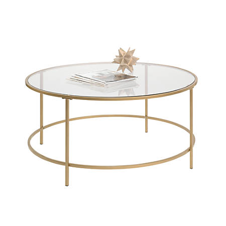Sauder® International Lux Coffee Table, Round, Satin Gold
