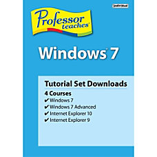 Professor Teaches Windows 7 Tutorial Set