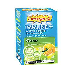 Emergen C Immune Plus Formula Citrus