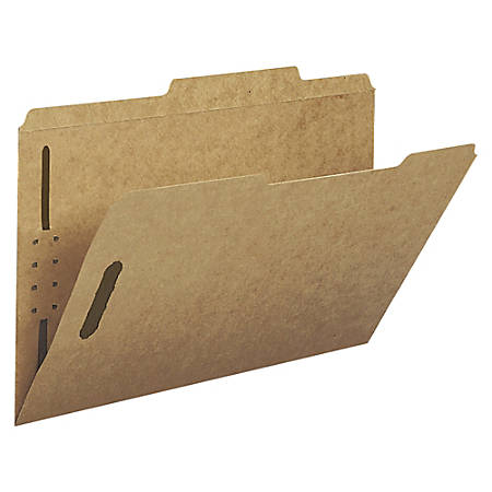 Smead® Kraft Fastener Folders, 2/5 Cut, Legal Size, Kraft, Box Of 50
