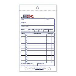 Rediform Carbonless Numbered Sales Form Book