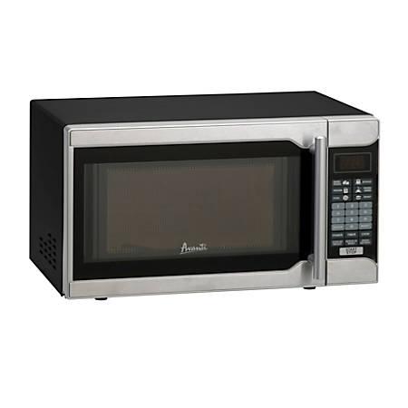 Avanti 0.7 Cu Ft Countertop Microwave, Stainless Steel