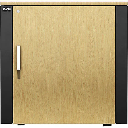 APC by Schneider Electric NetShelter CX Mini Enclosure Rack Cabinet - Gray, Oak