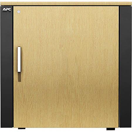 APC by Schneider Electric NetShelter CX Mini Enclosure Rack Cabinet - Gray, Oak
