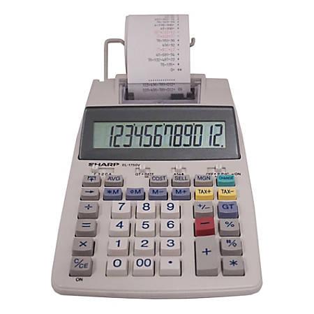 Sharp® EL-1750V Printing Calculator