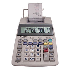Sharp EL 1750V Printing Calculator