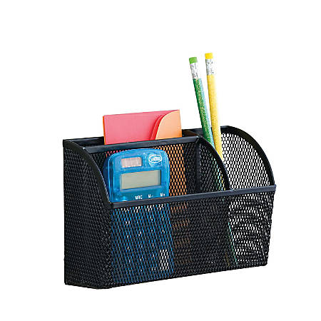 Neat Life Mesh Magnet Organizer, 3 Compartments, Large, Black