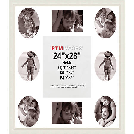 "PTM Images Photo Frame, Collage, 24""H x 1""W x 28""D, White"