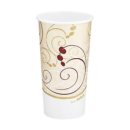 Solo® Symphony Hot Cups, 20 Oz, Beige, Pack Of 600