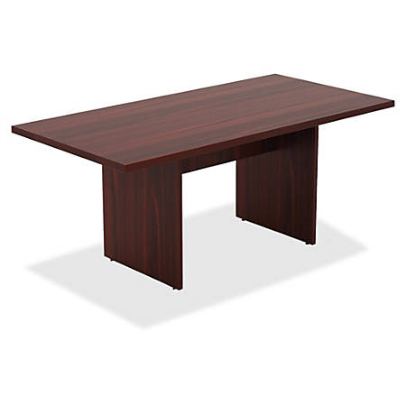 Lorell® Chateau Series Rectangular Conference Table Top, 6'W, Mahogany