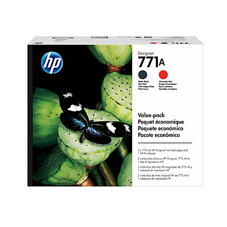 HP 771 P2V47A Black/Red Printhead