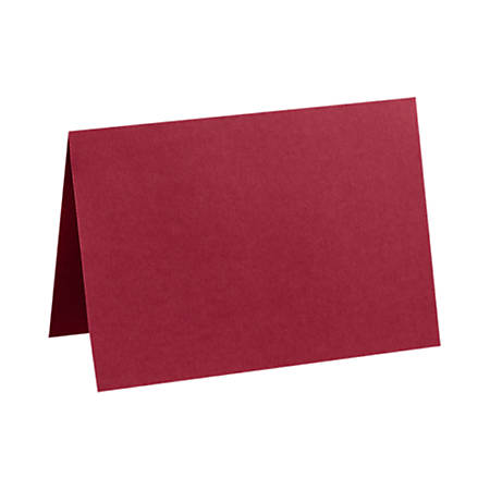 """LUX Folded Cards, A1, 3 1/2"""" x 4 7/8"""", Garnet Red, Pack Of 50"""
