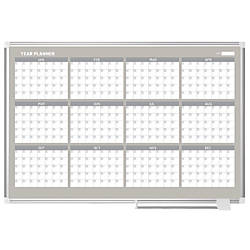 MasterVision Dry Erase Calendar Board Monthly