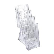 Azar Displays 4 Pocket Crystal Styrene