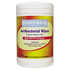 Boardwalk Antibacterial Wipes Fresh Scent 8
