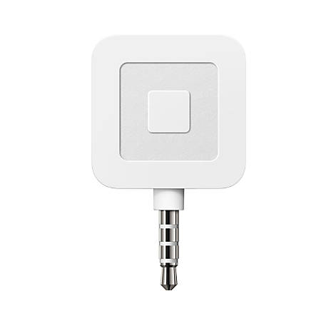 square credit card reader 4 12 x 4 12 x 1 white by office depot