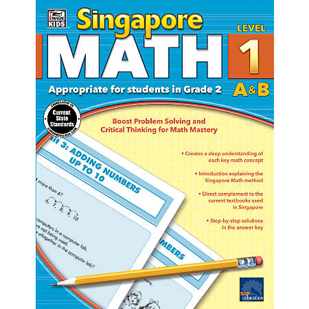 Thinking Kids'® Singapore Math Workbook, Grade 2