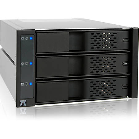 "Icy Dock FlexCage MB973SP-1B Drive Bay Adapter - Serial ATA Host Interface Internal - Black - 3 x 3.5"" Bay"