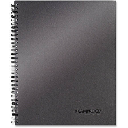 "Mead Titanium 11"" Metallic Notebook - Twin Wirebound - 20 lb Basis Weight - 11"" x 9.1"" - Perforated - Recycled - 1Each"