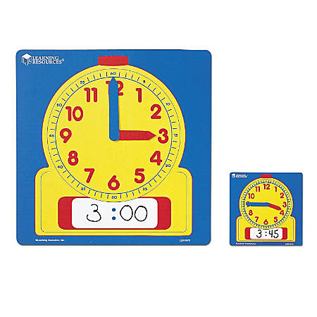 Learning Resources® Write And Wipe Demonstration Clock, Ages 6-12, Set Of 10