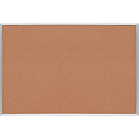 "Sparco Basic Aluminum Frame Cork Board, 24"" x 18"""