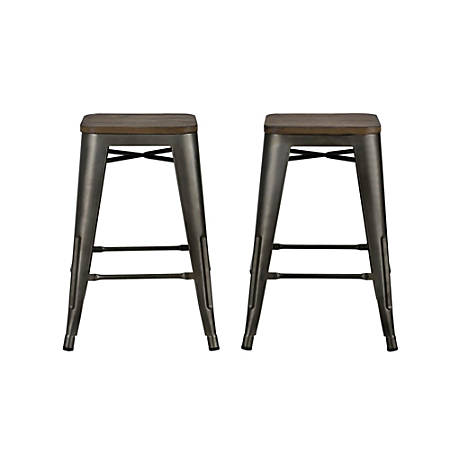 DHP Fusion Backless Counter Stool, Brown