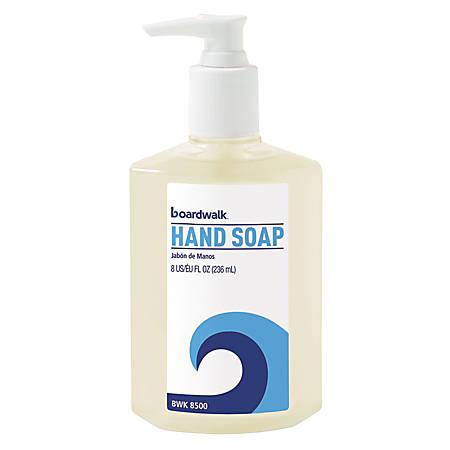 Boardwalk® Liquid Hand Soap, Floral Scent, 8 Oz, Carton Of 12