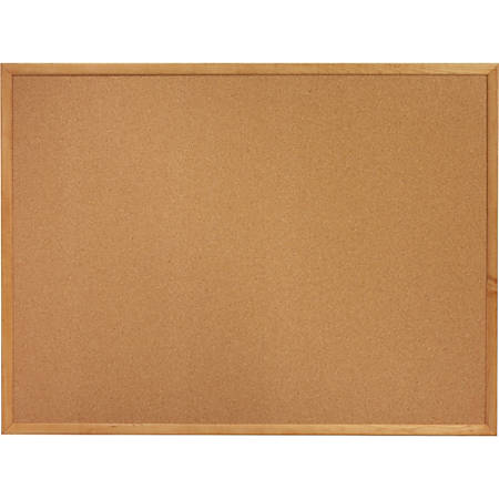 "Sparco Wood Frame Cork Board, 24"" x 18"", Natural Frame"