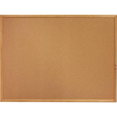 "Sparco Wood Frame Cork Board, 36"" x 24"", Natural Frame"