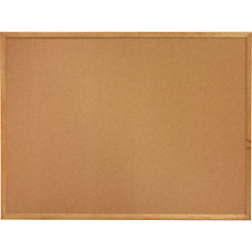 Sparco Wood Frame Cork Board 48