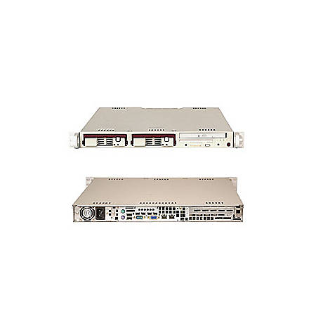 Supermicro A+ Server 1010S-T Barebone System - ServerWorks HT1000 - Socket 939 - Opteron (Dual-core) - 4GB Memory Support - CD-Reader (CD-ROM) - Gigabit Ethernet - 1U Rack