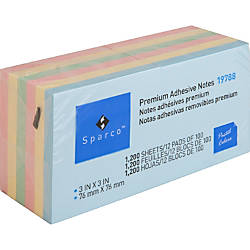 Sparco Colorful Adhesive Notes 100 3