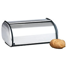 Anchor Brushed Steel Bread Box Euro