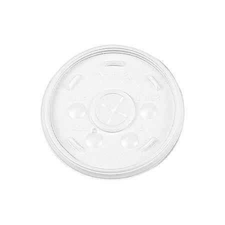 Dart Translucent Slotted Foam Cup Lids - Plastic - 1000 / Carton - Translucent