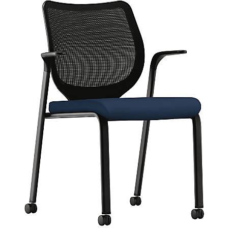 HON Nucleus Series Multipurpose Stacking Chair, Black/Blue