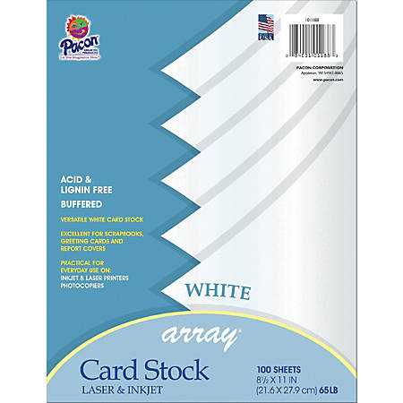 Pacon card stock letter paper size 65 lb white 100 sheets by office pacon card stock letter paper size m4hsunfo