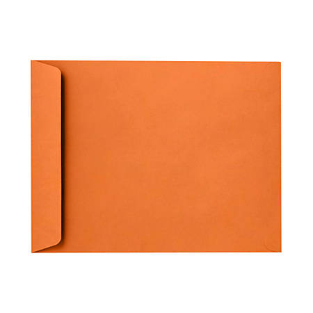 "LUX Open-End Envelopes With Peel & Press Closure, 6"" x 9"", Mandarin Orange, Pack Of 250"