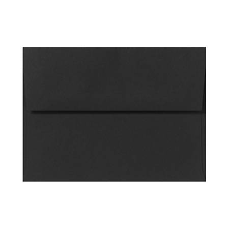 "LUX Invitation Envelopes With Peel & Press Closure, A2, 4 3/8"" x 5 3/4"", Midnight Black, Pack Of 50"