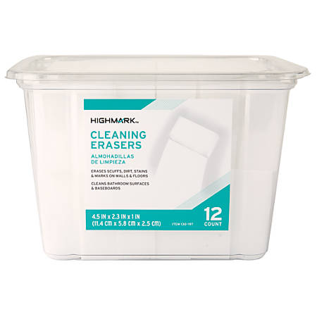 Highmark® Multi-Purpose Cleaning Erasers, 3.2 Oz, Pack Of 12