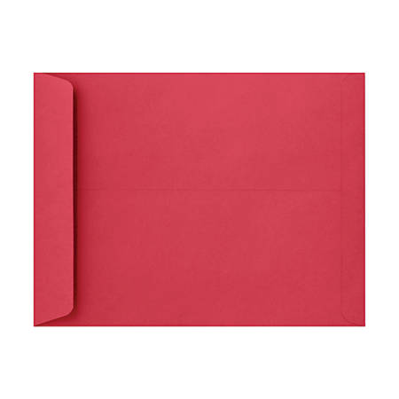 "LUX Open-End Envelopes With Peel & Press Closure, #6 3/4, 10"" x 13"", Holiday Red, Pack Of 1,000"
