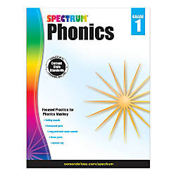 Carson Dellosa Spectrum Phonics Workbook Grade
