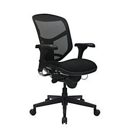 Workpro Quantum 9000 Series Ergonomic Mid Back Mesh Fabric Chair Black