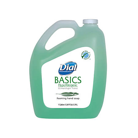 Dial® Basics Foaming Hand Soap With Aloe Refill, 1 Gallon