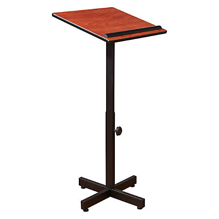 Oklahoma Sound? Portable Presentation Lectern Stand, Cherry
