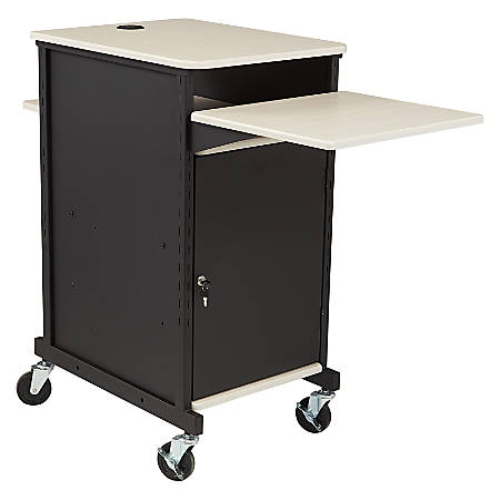 Oklahoma Sound? Jumbo Presentation Cart, Ivory/Black